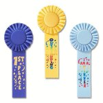 Fun Rosette Award Ribbon Football Award Trophies