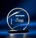 Bent Wire Circle on Black Acrylic Base Sales Awards