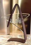 Investment Series Acrylic Award with Metal Rust Textured Finish Base Star Awards