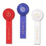 Classic Single Streamer Rosette Award Ribbon Track Award Trophies