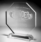 Clear Octagonal Acrylic Award Traditional Acrylic Awards